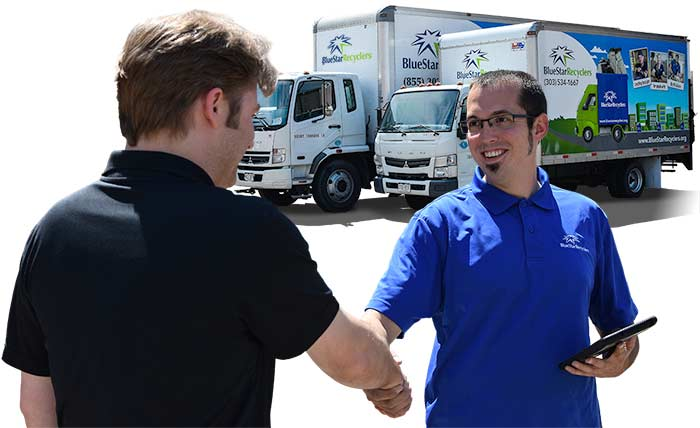 Blue Star Recyclers offers pickup services